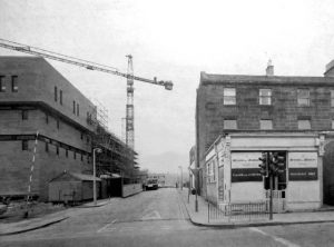 The corner of Lauriston Place looking down Keir Street circa 1971